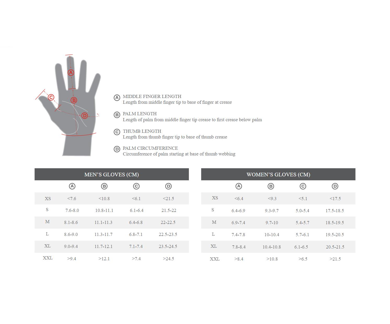 Guia talla guantes